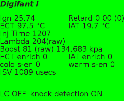Digifant 1 live Datenausgabe (K-Line)